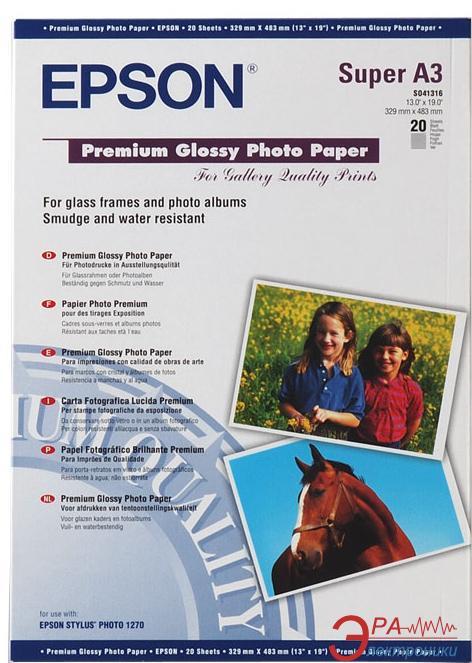 Бумага для фотопринтера Epson Premium Glossy Photo Paper (C13S041316)