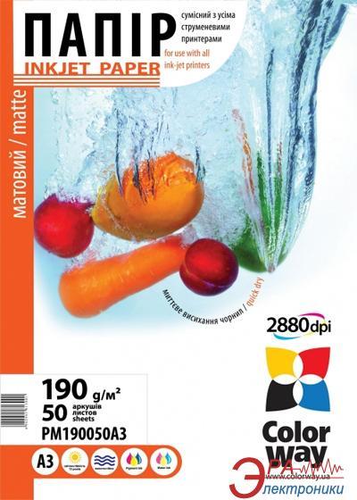 Бумага для фотопринтера ColorWay ПМ190-50 (PM190050A3)