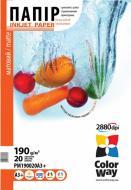 Бумага для фотопринтера ColorWay ПM190-20 PM190020A3+