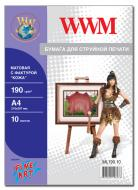 Бумага для фотопринтера WWM (ML190.10)