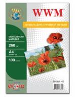 Бумага для фотопринтера WWM (SM260.A4.100)