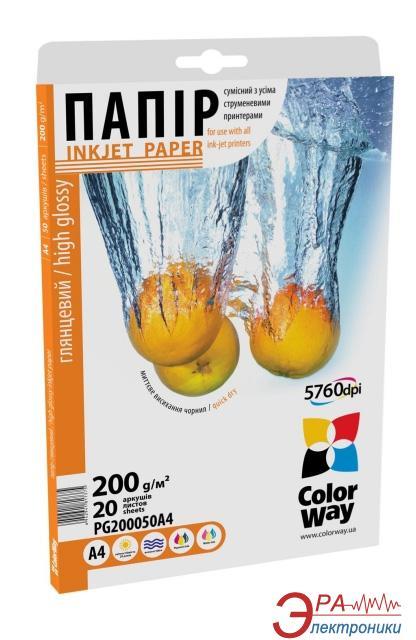 Бумага для фотопринтера ColorWay PG200-50 (PG2000504R)