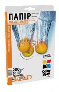Бумага для фотопринтера ColorWay PG200-20 (PG200020A4)