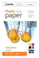 Бумага для фотопринтера ColorWay PG230-50 (PG230050A4)