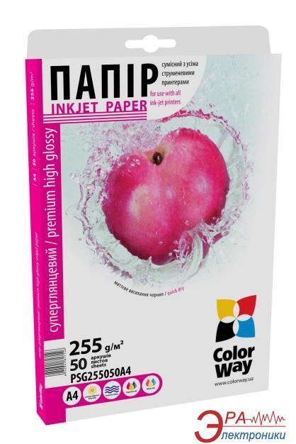 Бумага для фотопринтера ColorWay PSG255-50 (PSG255050A4)
