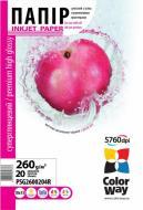 Бумага для фотопринтера ColorWay PSG260-20 (PSG2600204R)