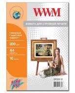 Бумага для фотопринтера WWM (GP200.10)