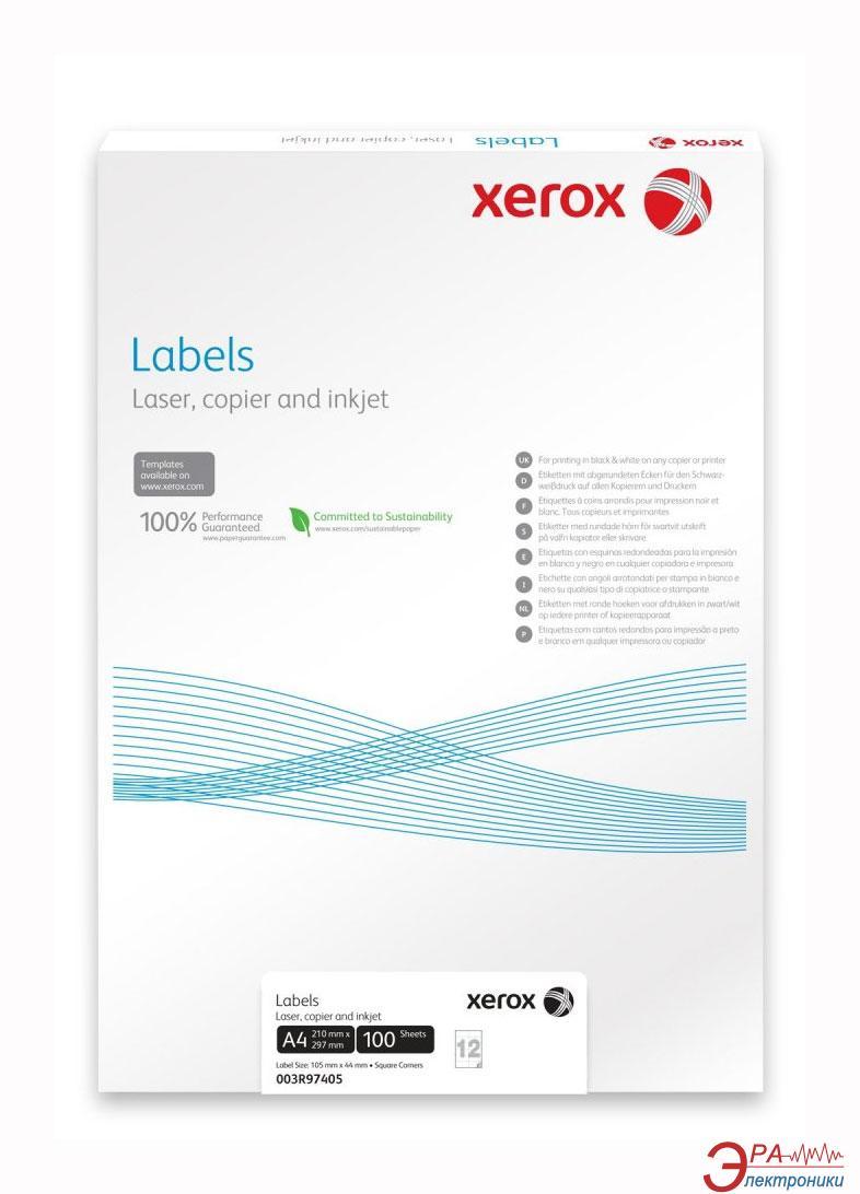 Бумага для фотопринтера Xerox Mono Laser 16UP (rounded) 99.1x34mm 100л. (003R96296)