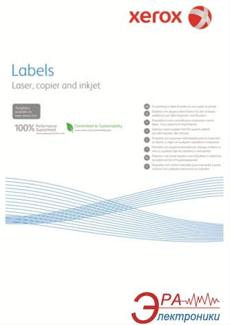 Бумага для фотопринтера Xerox Mono Laser 1UP (squared) 210x297mm 100л. (003R97400)