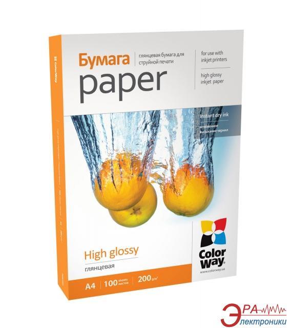 Бумага для фотопринтера ColorWay PG200-100 (PG200100A4)