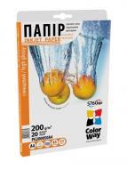 Бумага для фотопринтера ColorWay PG200-50 (PG200050A4)