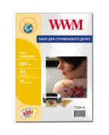 Бумага для фотопринтера WWM (TT220.10)