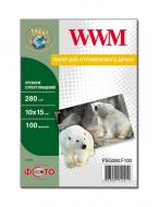 Бумага для фотопринтера WWM (PSG280.F100)