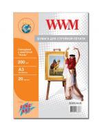 Бумага для фотопринтера WWM (GC200.A3.20)