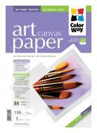 Бумага для фотопринтера ColorWay ART Sail Canvas (PPA150005A4)