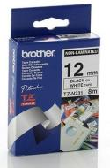 Лента клеящаяся Brother 12mm white Print black (TZN231)