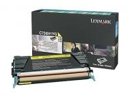 Тонер картридж LEXMARK (C736H1YG) yellow