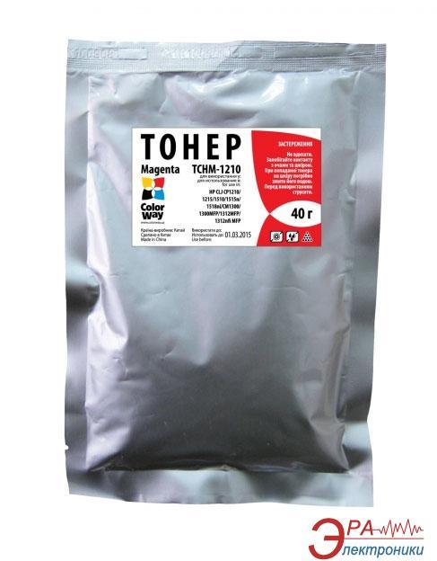 Тонер cовместимый+чип ColorWay HP CLJ 1215/1515 Magenta (TCHM-1210-CH) 40 г.