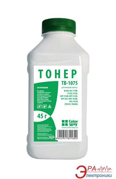 Тонер cовместимый ColorWay Brother DCP 1510R/ 1512R/ 7057 HL 1110R/ 1112R/ 2132R MFC 1810R (TB-1075) 45 г.