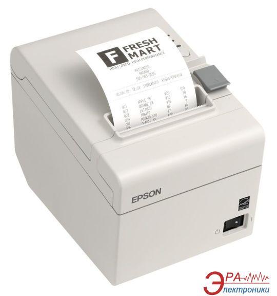 Принтер для печати чеков и контрольной ленты Epson TM-T20 COM (White) + PS (C31CB10102)