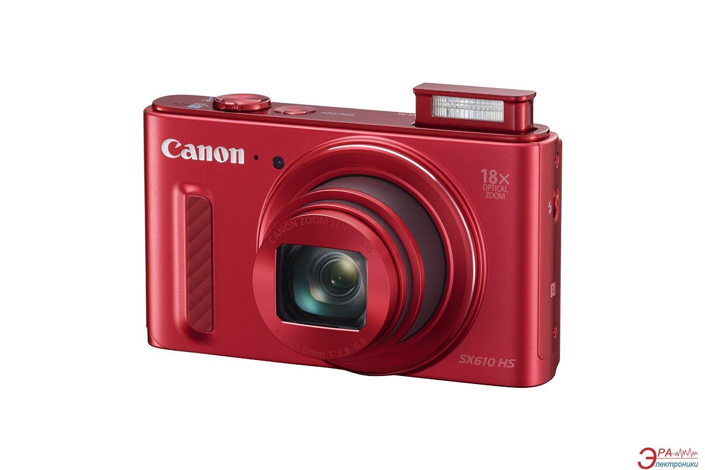 Цифровой фотоаппарат Canon Powershot SX610 HS Red (0113C012AA)