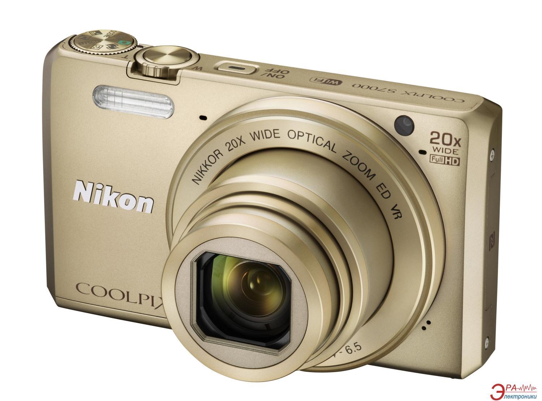 Цифровой фотоаппарат Nikon Coolpix S7000 Gold (VNA802E1)