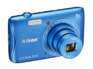 Цифровой фотоаппарат Nikon Coolpix S3700 Blue (VNA824E1)