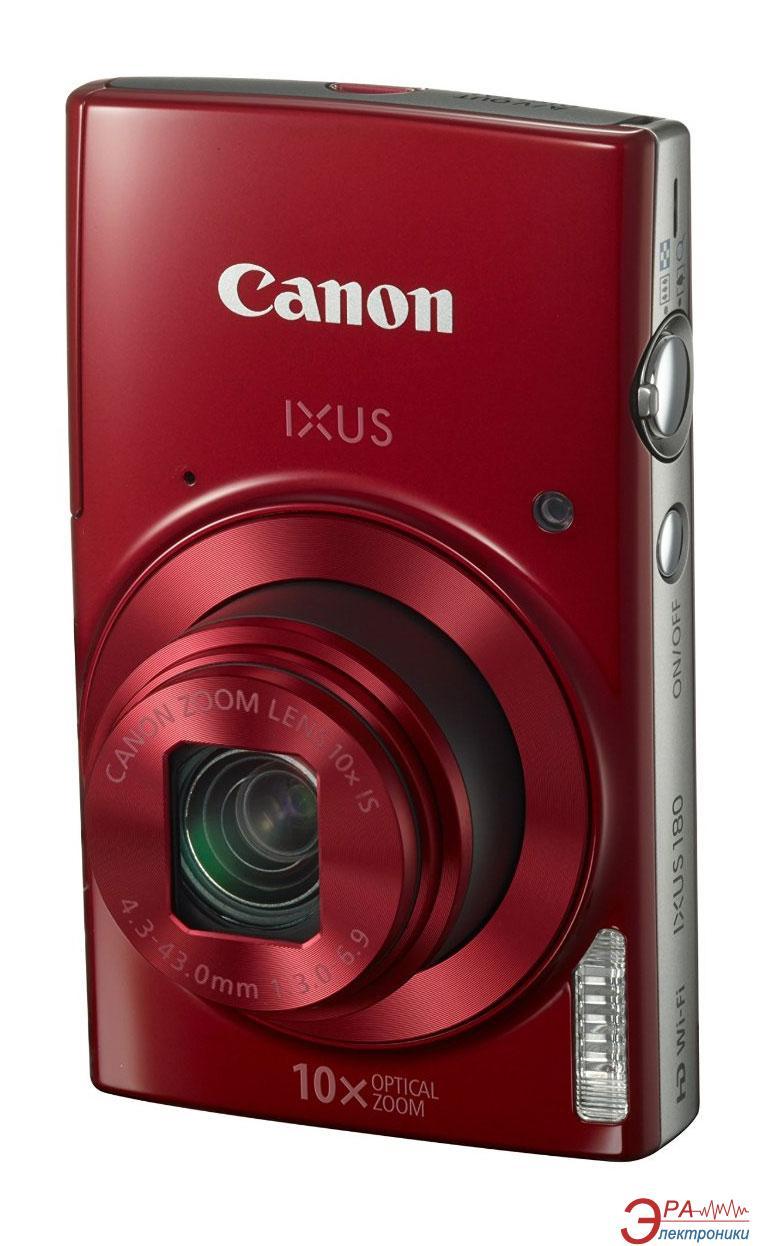 Цифровой фотоаппарат Canon IXUS 180 Red (1088C009AA)
