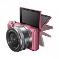 Цифровой фотоаппарат Sony a5000 kit 16-50 Pink (ILCE5000LP.CEC)