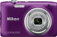 Цифровой фотоаппарат Nikon Coolpix A100 Purple (VNA974E1)