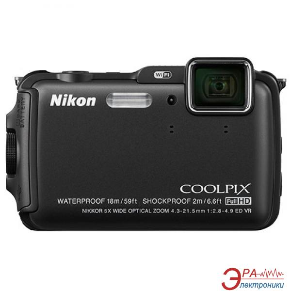 Цифровой фотоаппарат Nikon Coolpix AW120 Outdoor kit Black (VNA590K001)