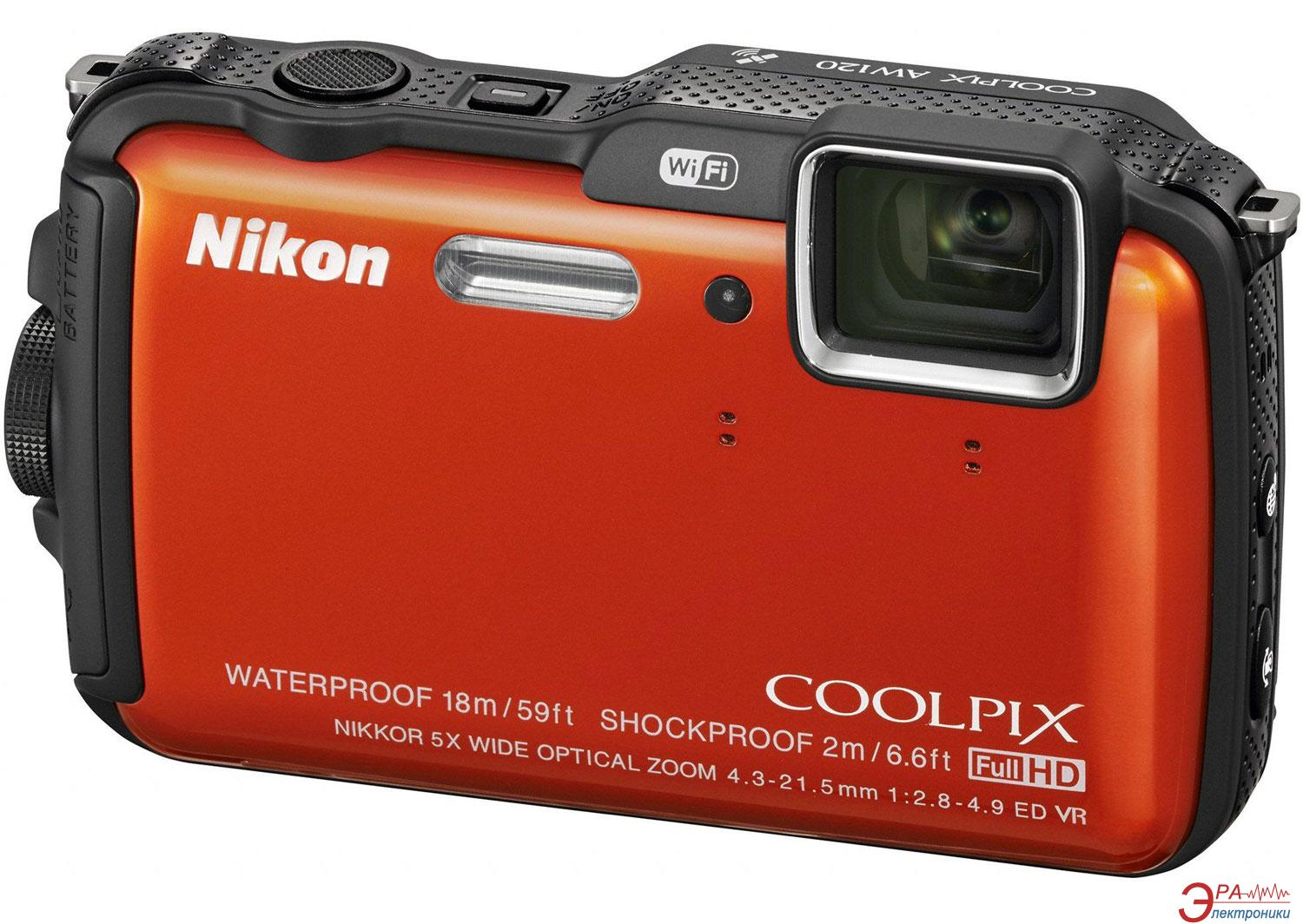 Цифровой фотоаппарат Nikon Coolpix AW120 Outdoor kit Orange (VNA592K001)