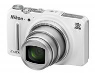 Цифровой фотоаппарат Nikon Coolpix S9700 kit + EN-EL12 + карта 8Gb White (VNA652KG01)