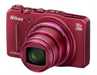 Цифровой фотоаппарат Nikon Coolpix S9700 kit + 8Gb Red (VNA651KG60)