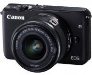 Цифровой фотоаппарат Canon EOS M10 + 15-45 IS STM Kit Black (0584C040)