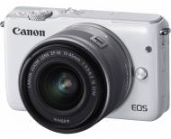 Цифровой фотоаппарат Canon EOS M10 + 15-45 IS STM Kit White (0922C040)