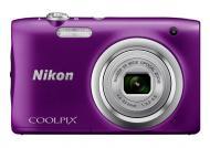 Цифровой фотоаппарат Nikon Coolpix A100 Purple (VNA973E1)