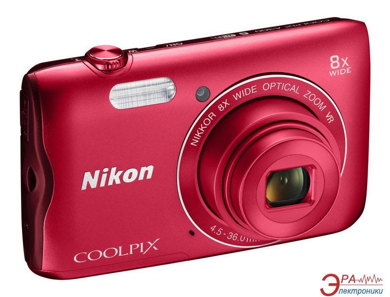 Цифровой фотоаппарат Nikon Coolpix A300 Red (VNA963E1)