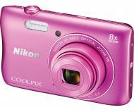 Цифровой фотоаппарат Nikon Coolpix S3700 + 8GB SD card Pink (VNA823K001)