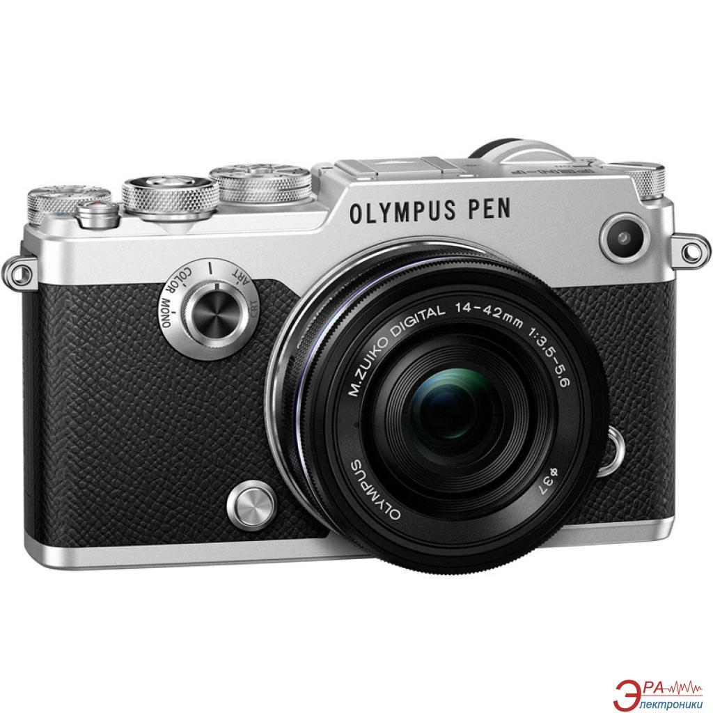 Цифровой фотоаппарат Olympus PEN-F Pancake Zoom 14-42 Kit Black\Silver (V204061SE000)