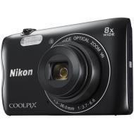 Цифровой фотоаппарат Nikon Coolpix A300 + 8GB + case Black (VNA961K003)