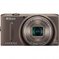 Цифровой фотоаппарат Nikon Coolpix S9500 Bronze (VNA263E1)