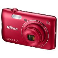 Цифровой фотоаппарат Nikon Coolpix A300 + Case + SD8Gb Red (VNA963K003)