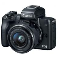 Цифровой фотоаппарат Canon EOS M50 + 15-45 IS STM Kit Black (2680C060)