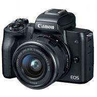 Цифровой фотоаппарат Canon EOS M50 + 15-45 IS STM + 22 STM Double Kit Black (2680C055)