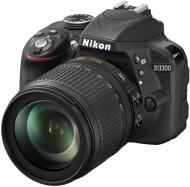 Зеркальная фотокамера Nikon D3300 KIT AF-S DX 18-105 VR (VBA390K005) Black + сумка CASE LOGIC SLRC200 + карта SAMSUNG microSDXC 64GB EVO PLUS UHS-I