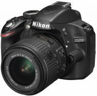 Зеркальная фотокамера Nikon D3200 kit 18-55 VR II + SLR Shoulder Bag (VBA330KV08) Black