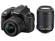 Зеркальная фотокамера Nikon D3300 Kit 18-55 VR II + 55-200 VR II (VBA390K007) Black
