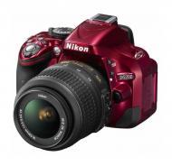 ���������� ���������� Nikon D5200 Kit 18-55 VR II (VBA351K006) Red