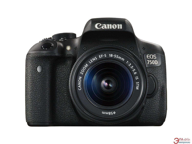 Зеркальная фотокамера Canon EOS 750D + 18-55 IS STM (0592C027AA) Black